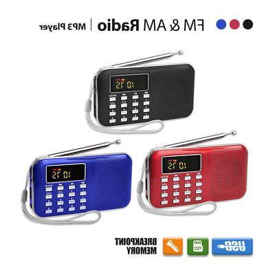 lcd portable digital fm radio speaker usb