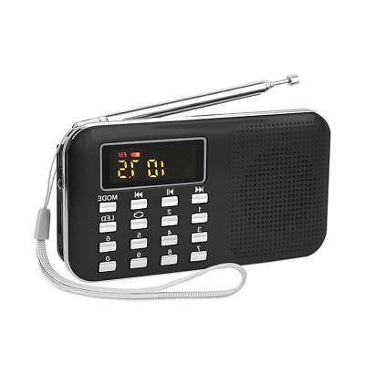 LCD Digital FM Radio SD TF