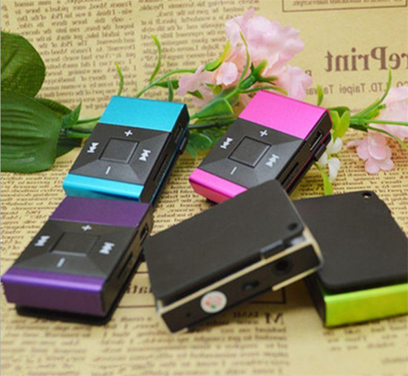Light Clip MP3 Player Support TF Card Music Mini