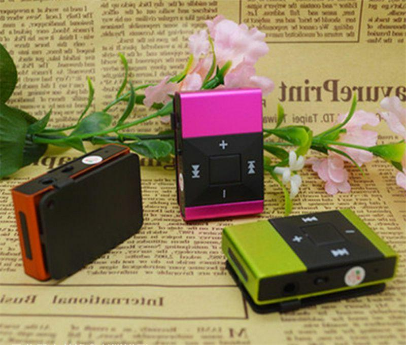 Light Clip MP3 Player Support Micro TF Mini Speaker
