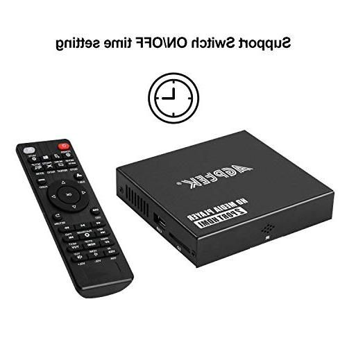 Media 2 HDMI Ports Digital Video and Photos with USB Drive/SD Cards/HDD/External Devices, Output