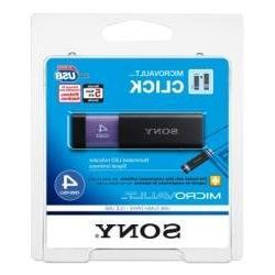 Sony Micro Vault Click 4 GB USB 2.0 Flash Drive with Virtual