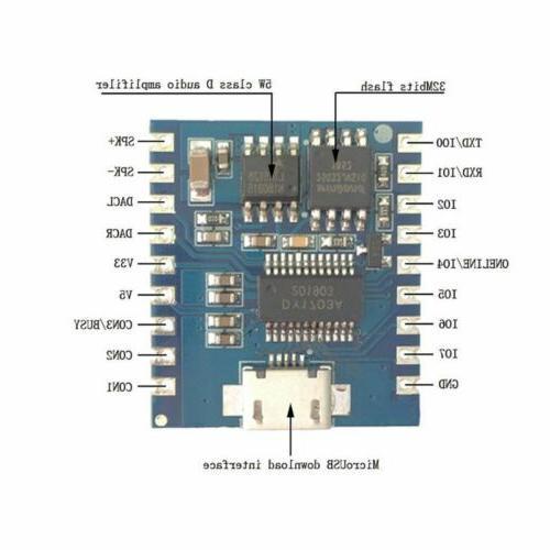 Mini MP3 Player IO Trigger USB Download