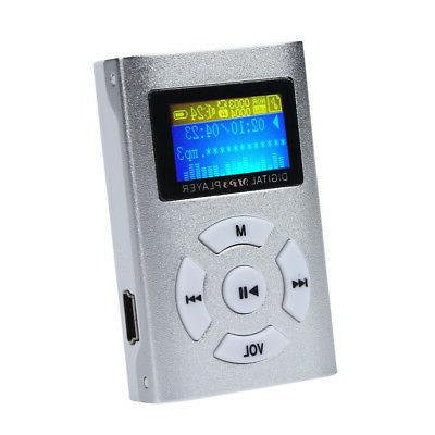 Mini MP3 Screen Support 32GB Micro SD Card USB.