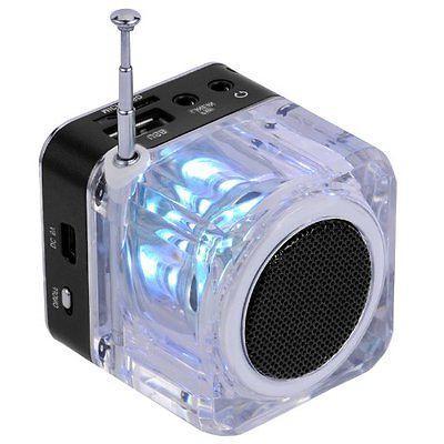 Qich® Mini Digital Portable Music MP3/4 Player SD/TF USB Speaker FM Black