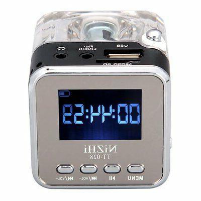 Music Player Micro SD/TF USB FM Radio Black