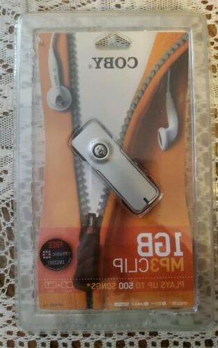 mp3 audio player 1gb clip silver mp