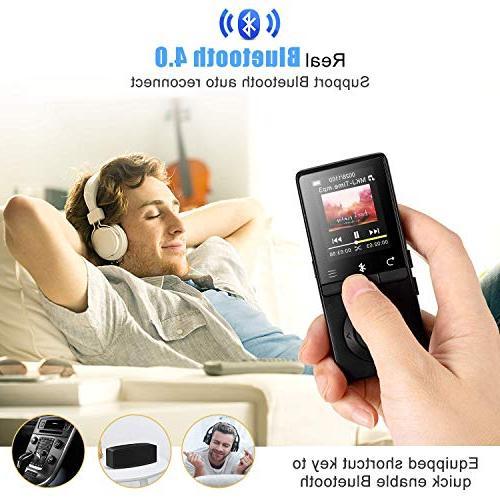 AGPTEK Bluetooth Speaker, Player FM Recording, Expandable Up 128GB, Black