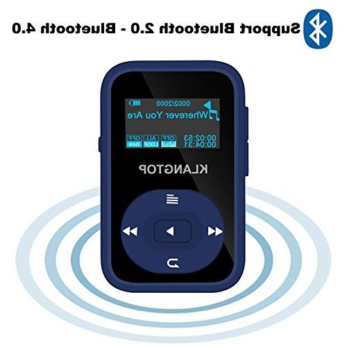 MP3 Player KLANTOP Digital Clip Player with Radio Voice Design for Music