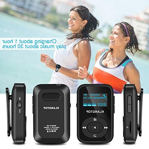 MP3 Player KLANTOP Clip Music Player with FM Radio Voice Design Sport Music