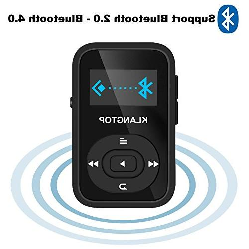 MP3 Player KLANTOP Clip Player with Voice Design for Music Lovers