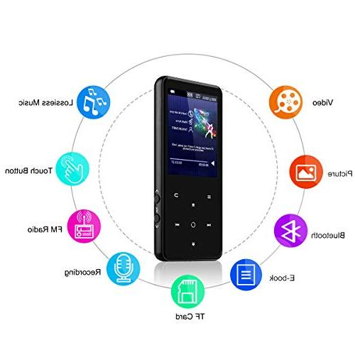 Player 2.4'' Screen, Slim Music Player Lossless Sound Come with Headphone