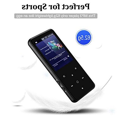 MP3 Player,AMDISI Bluetooth Player 2.4'' Screen, Slim Player Lossless Sound Come Wired Headphone