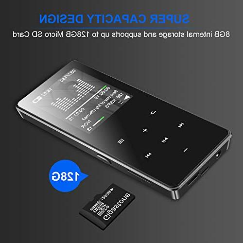 Mp3 Player Recorder/Video Play.Expandable 128 GB