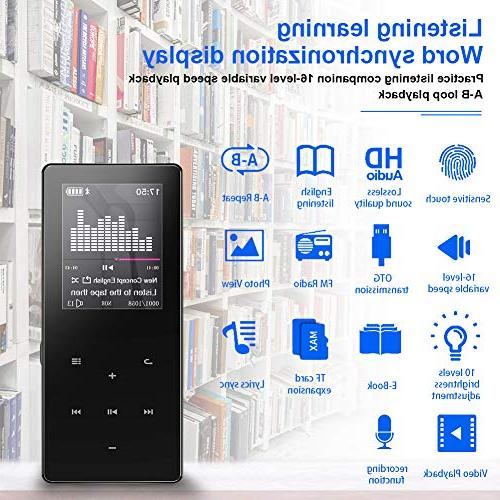 Mp3 Player,8GB Ultra Slim Portable Player FM Recorder/Video Play.Expandable Up to 128 GB