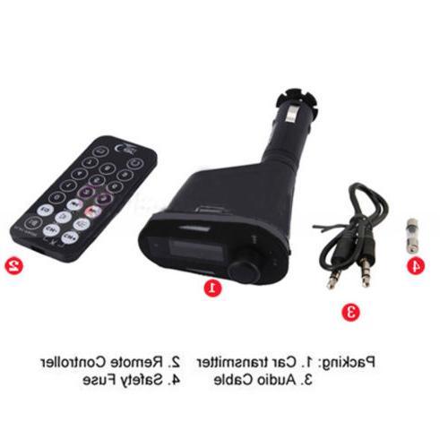MP3 Player FM Transmitter Car Kit & USB LCD