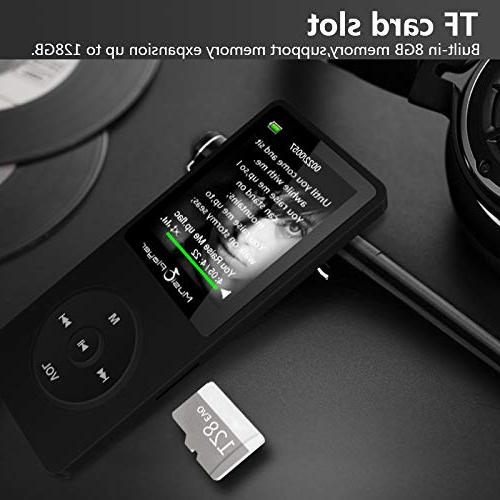GREATLINK with Speaker,Lossless MP Player with 1.8 Inch FM Radio Voice Clock Mini Music