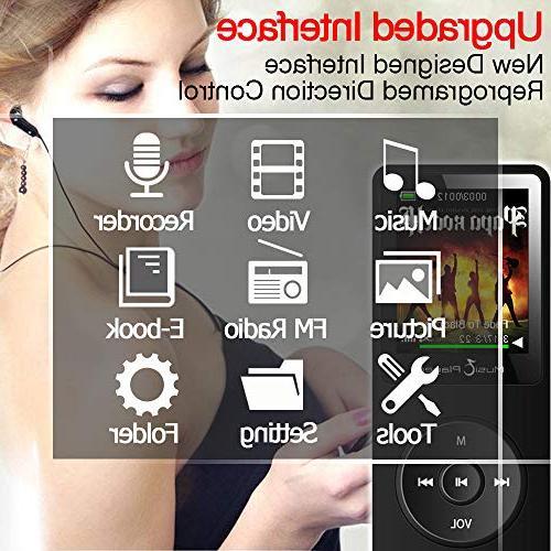 GREATLINK with Speaker,Lossless HiFi Music MP 3 Player 1.8 Inch Radio Voice Clock Sport MP Mini