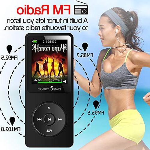GREATLINK MP3 with Built-in Music MP 3 Player with 1.8 Screen FM Radio Ebook Clock Sport Mini USB Music