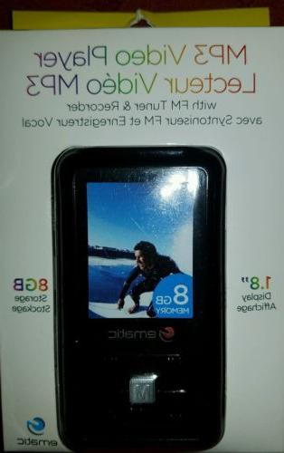 MP3 Video Player FM Tuner Ematic 8GB 1.8-Inch