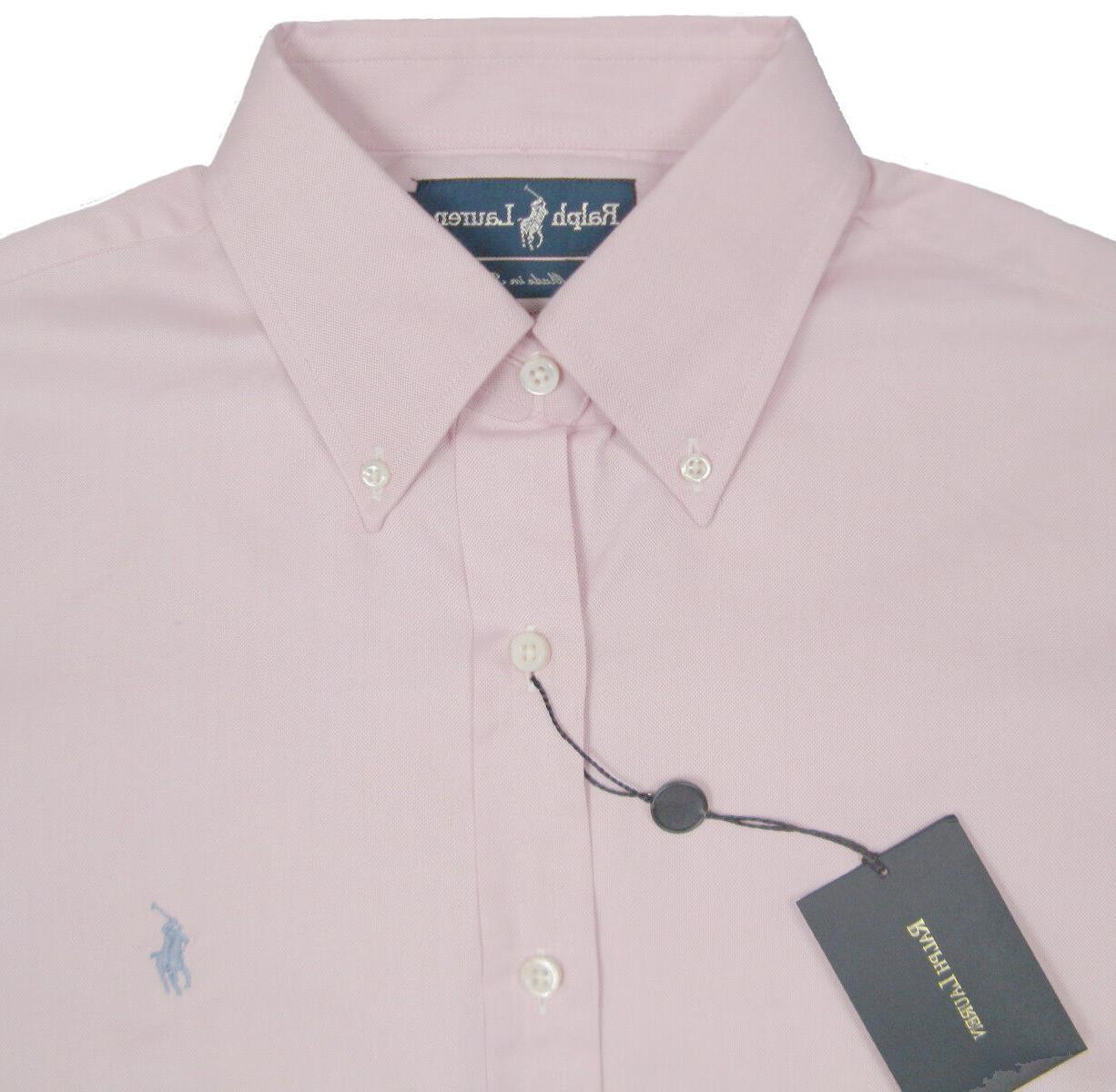 NEW Lauren Dress Shirt! Blue Italy *Royal Oxford*