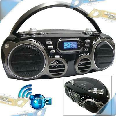new bluetooth cd player portable stereo boombox