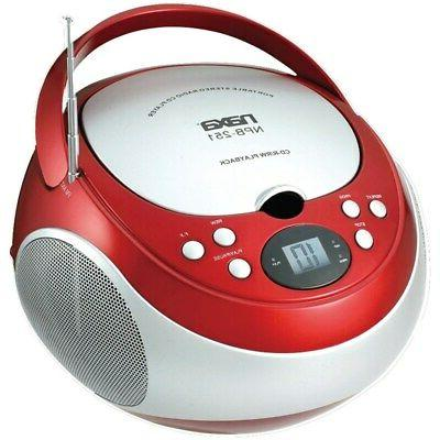 NAXA Electronics NPB-251RD Portable CD Player with AM/FM Ste