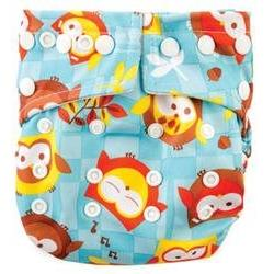 Owls Snap in One Diaper, Diapers, Cotton, Red, Up to 7lbs, 8