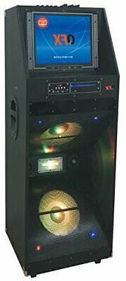 "QFX PBX-412205 Portable Bluetooth Party Speaker 15"" LED Disp"