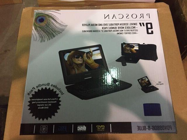 "Brand New PROSCAN PDVD9806 9"" Swivel Screen Portable DVD Pla"
