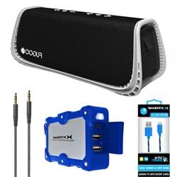 Fugoo Sport XL Port. Waterproof Bluetooth Speaker B&W w/ Pow