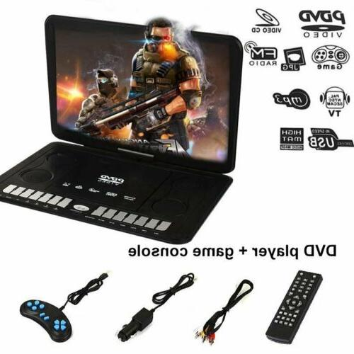 "13.9"" Portable DVD Player HD CD TV Player 270° LCD Widescre"