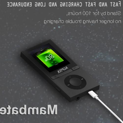 AGPTEK® Portable Bluetooth MP3 Music with Lossless Support to 64GB