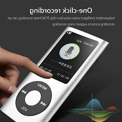 Portable Music Player with FM Hi-Fi Lossless Support 64GB w/ Earphone