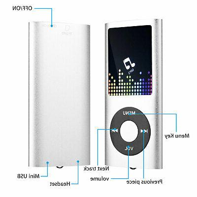 Portable Music Player with Support up w/ Earphone