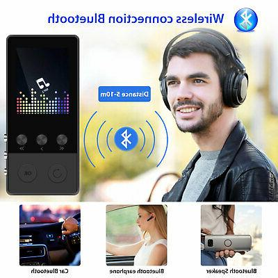 Portable Bluetooth Player FM Lossless Support up to 64GB