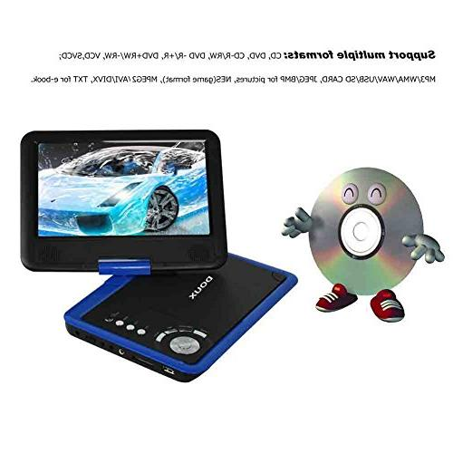 DOUX 9-Inch DVD/CD/MP with Hour Built-In USB/SD Card Reader, Your and Choose