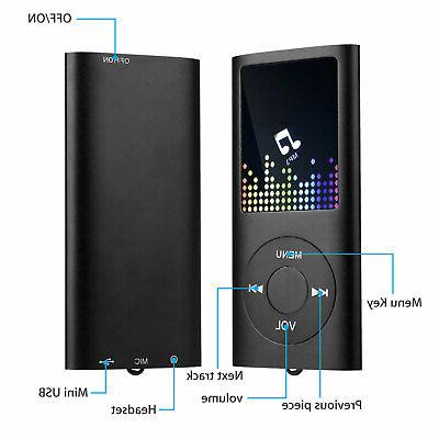 Portable MP3 Player Recorder up to 64GB +