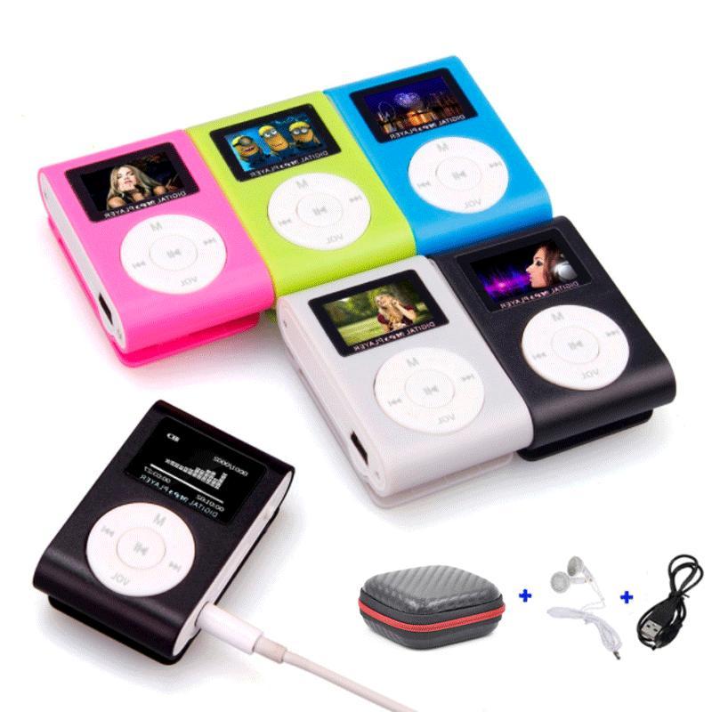Portable Mini MP3 Player LCD Screen Support SD TF