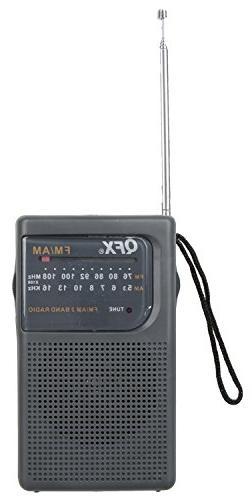 QFX Portable; Personal Novelty Radio Gray