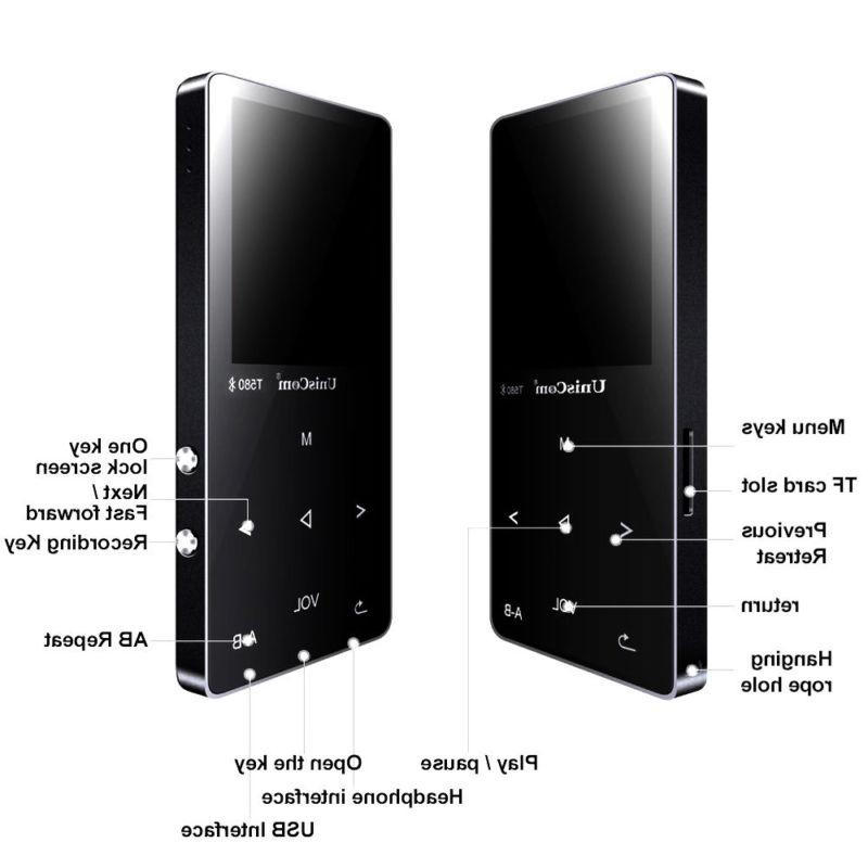Portable Walkman 8GB 16GB MP4 Player Touch Player