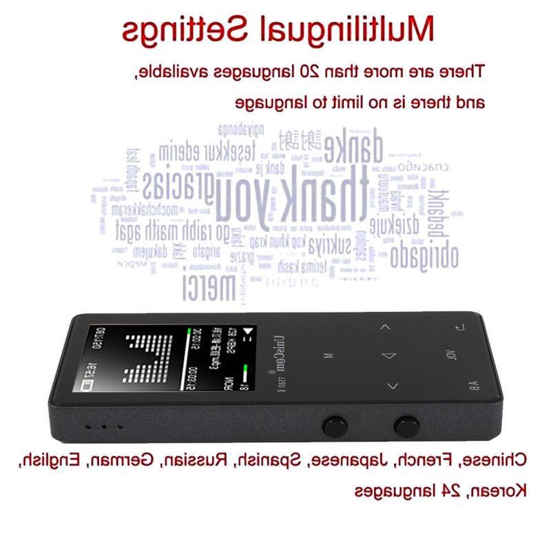 Portable Walkman 8GB 16GB MP3 MP4 Player Fashion Touch Key Player