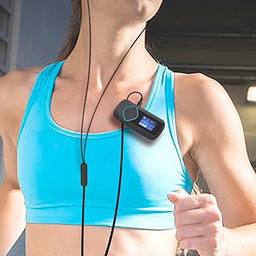 AGPTEK MP3 with FM Jogging Black