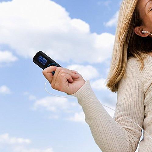 AGPTEK R2 MP3 Player with Radio Jogging Gym Black