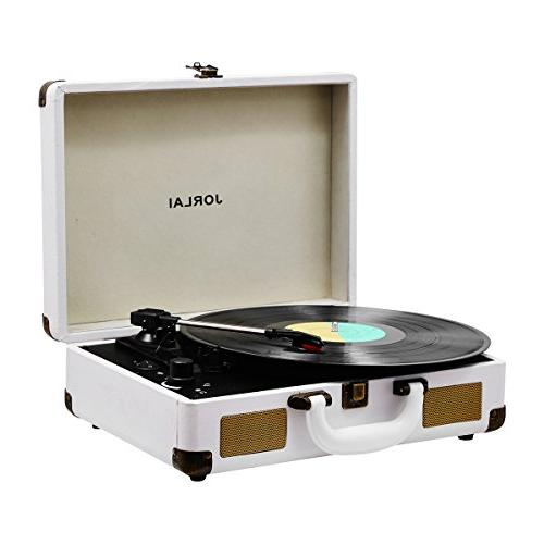 rechargeable suitcase turntable bluetooth portable