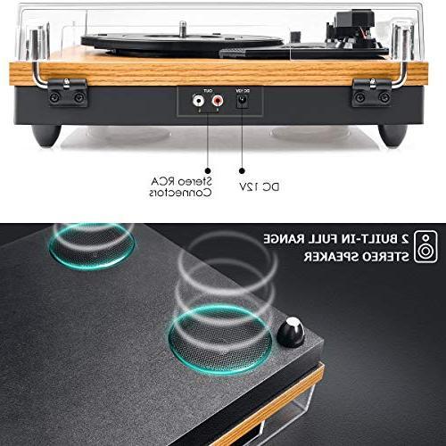 Record Player, Turntable 3-Speed Player LP Vinyl RCA Jack,