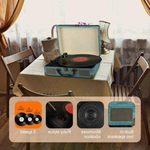 Record Vintage Bluetooth Vinyl Stereo