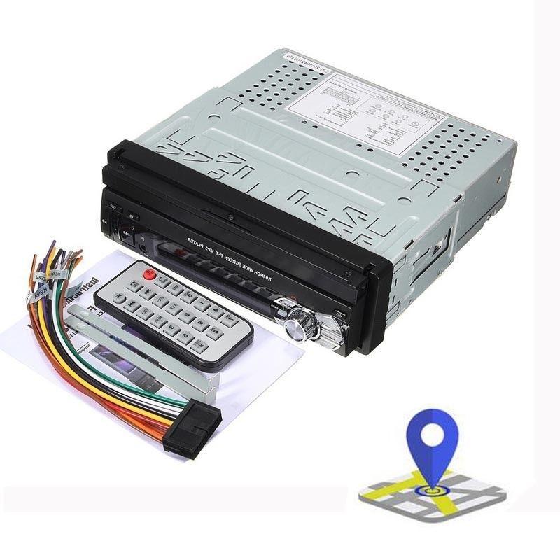 Single 1 Din GPS Radio USB SD Map