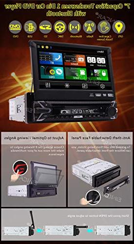 Single 1 Din GPS Car AM Support Detachable Bluetooth Audio/Video output Free Wireles Remote Backup Camera