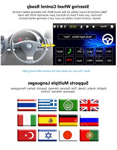 Single DVD Dash GPS Car Stereo AM Support Detachable Bluetooth USB/SD Audio/Video output SWC Backup Camera Map Card